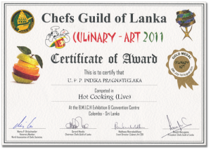 Certificate for Head Chief Indika at Mount Lavinia in Nuremberg