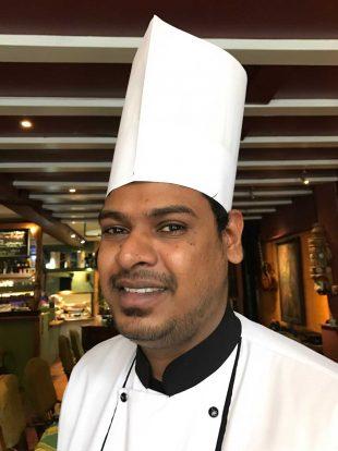 Photograph of the Chef Suresh Kumara